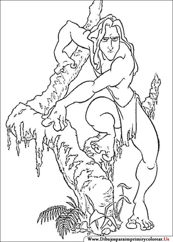 Dibujos de Tarzán para Imprimir y Colorear | para colorear ...