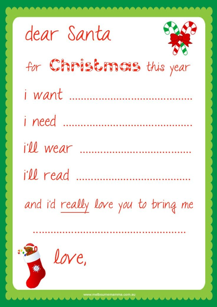 Dashing image with santa letter templates free printable