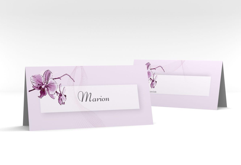 """Tischkarte Hochzeit """"Modena"""" Tischkarten lila"""
