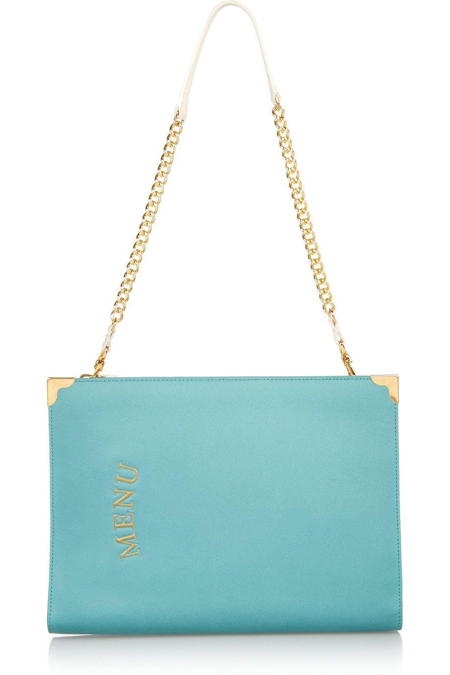 Moschino Textured Leather Shoulder Bag SkzvYm5plw