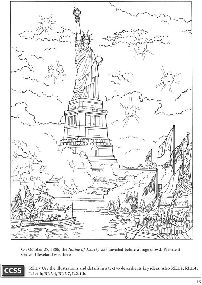 Welcome To Dover Publications Boost Statue Of Liberty And Ellis Island Coloring Pages Dover Coloring Pages Ellis Island Activities
