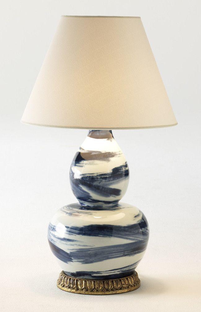 Brush Stroke Lamp Blue Treillage Lighting Table
