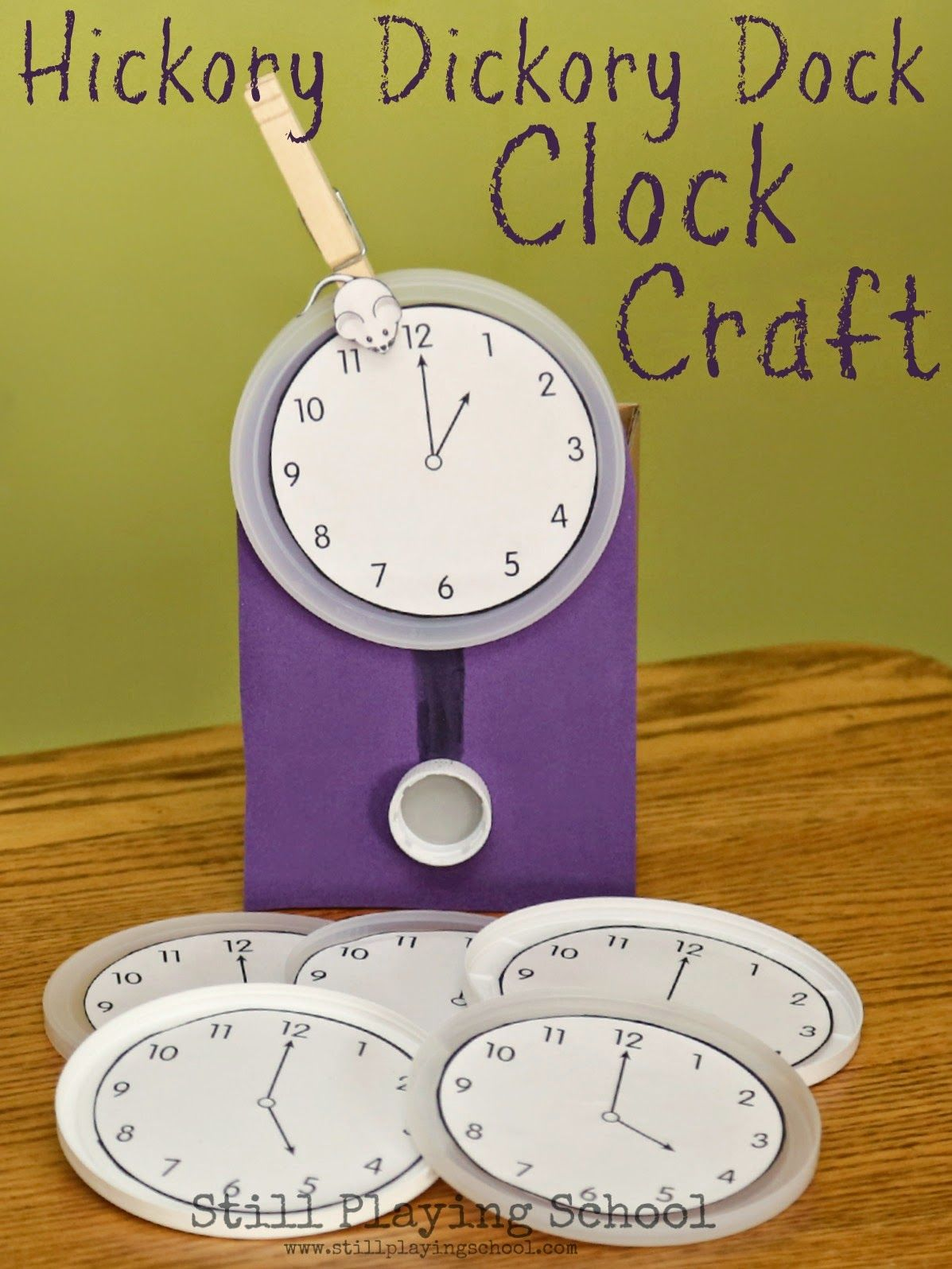 Hickory Dickory Dock Clock Craft Amp Time Telling Activity For Kids