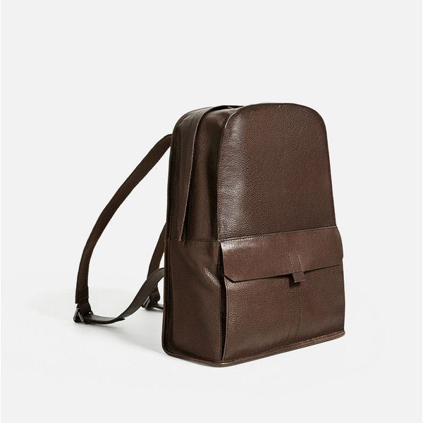 "BROWN LEATHER 13"" LAPTOP BACKPACK - NEW IN-MAN 