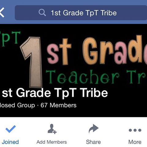 1st Grade TPT Tribe on FB. We are currently doing the TPT spin-off of the #tptsellerchallenge ! #teachertribedirectory #findmytribe #teachertribe #1stgradeteachertribe #firstgrade
