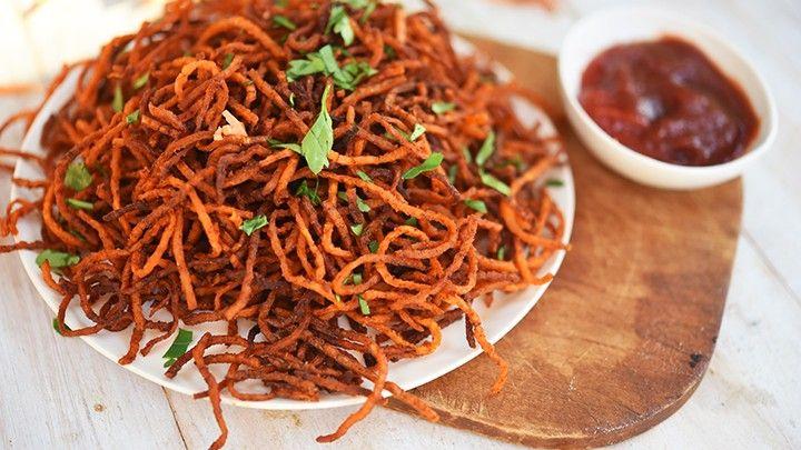 Sweet Potato Curly Fries Recipe Whole food recipes