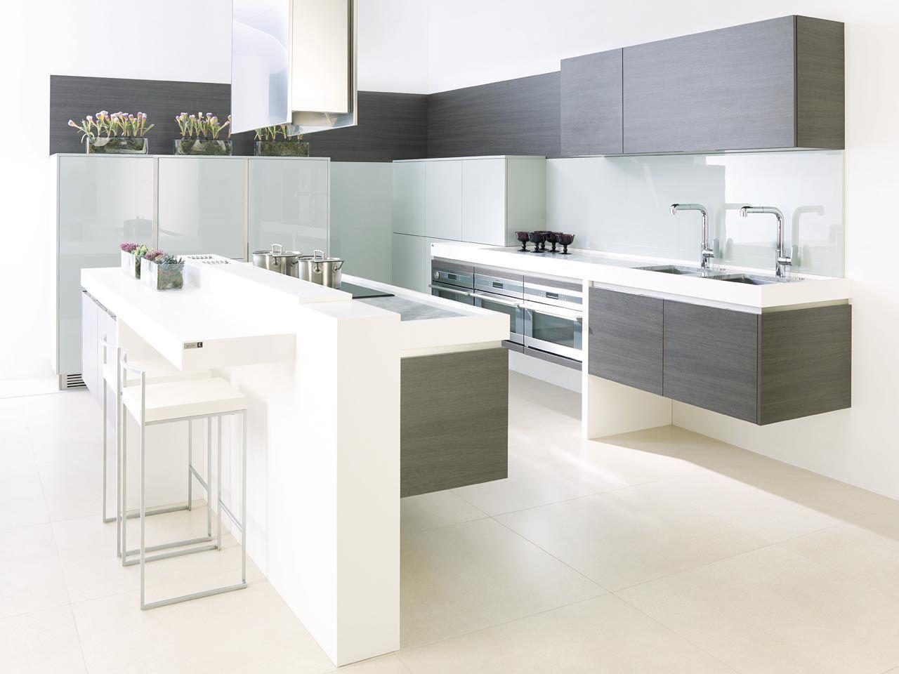 G100 roble ahumado g500 gris ceniza brillo interiors - Cocina roble ...
