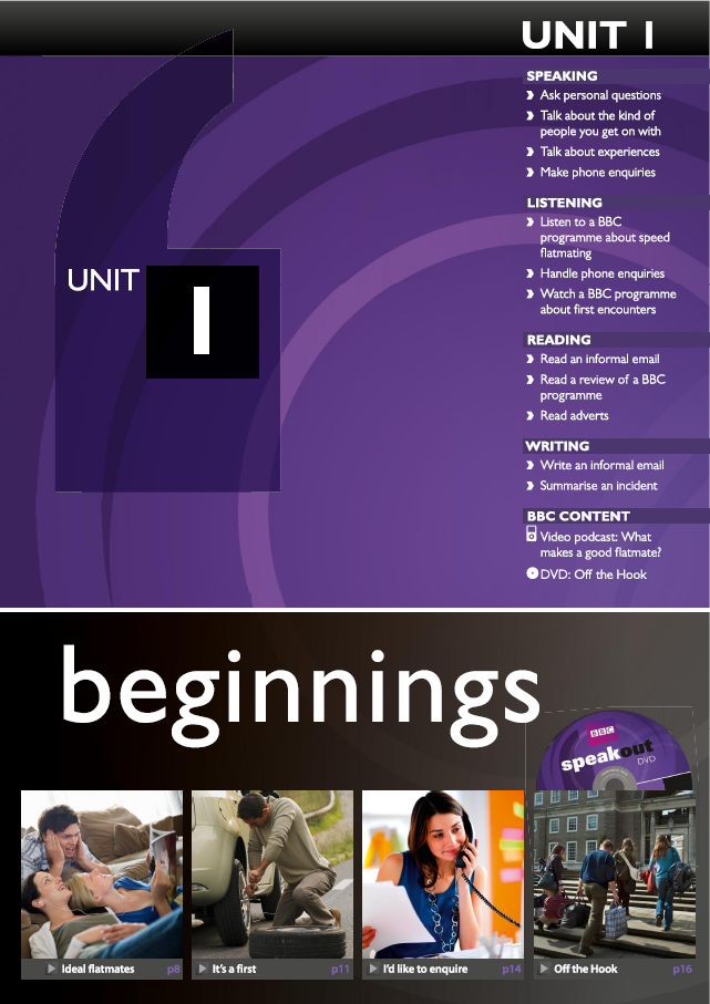 Speakout Upper Intermediate Unit 1 Beginnings Email Reading Textbook Personal Questions