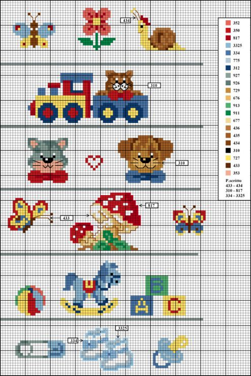 Gallery.ru / Фото #66 - baby - tattiteddina | Crochet Graphs 1 ...
