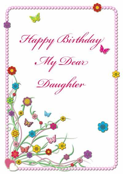 graphic regarding Free Printable Birthday Cards for Daughter called Printable birthday card for daughter - my-totally free-printable