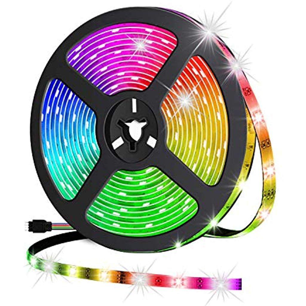 Wifi Led Streifen 5m Ip65 Wasserdichte Farbwechsel Musiksynchronisation Sprachsteuerung Kompatibel Mit Alexa Echo Google Assistent Le Led Streifen Led Band Led