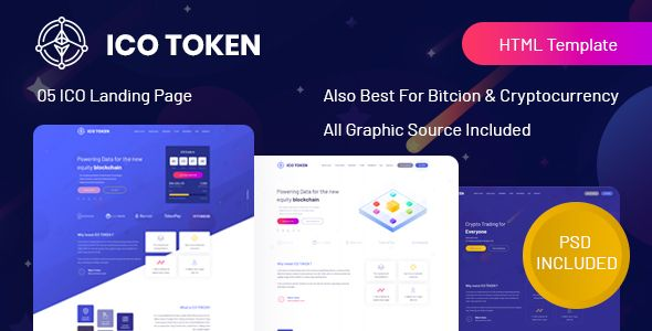 ico token bitcoin cryptocurrency landing page html. Black Bedroom Furniture Sets. Home Design Ideas