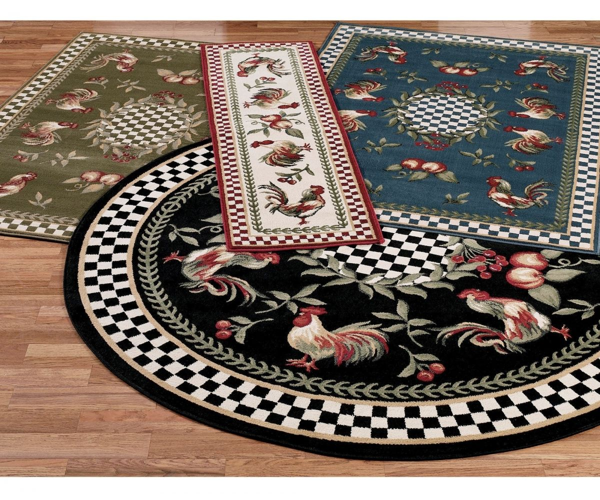 Image Result For Kitchen Rugs Black White Plaid With Roosters