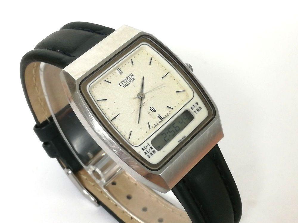 7e14bae8810b Reloj hombre CITIZEN QUARTZ Analogico Digital Original Vintage cal Citizen  8950