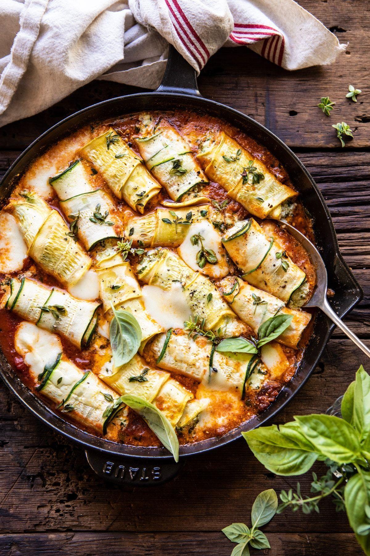 Spicy Pesto and Cheese Stuffed Zucchini Involtini  399553798191831202
