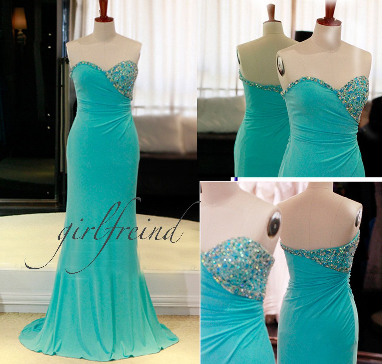 Sexy strapless beading prom dresses / evening dress by GirlsProms, $172.90