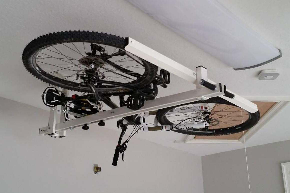 Flat Bike Lift Raises The Roof On Bike Storage Bike Storage