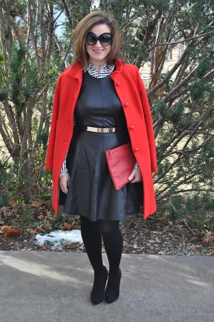 LDB with a Statement Coat  I'm Andrea of Style My Way. I love to style a LBD with pops of color like this statement coat, fun accessories, and killer shoes!