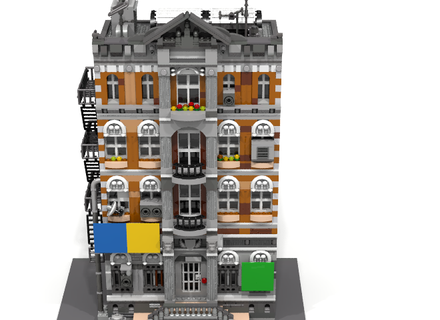 Emmet S Apartment Building From The Lego Movie Modular Lego City Cool Lego Creations Lego Modular