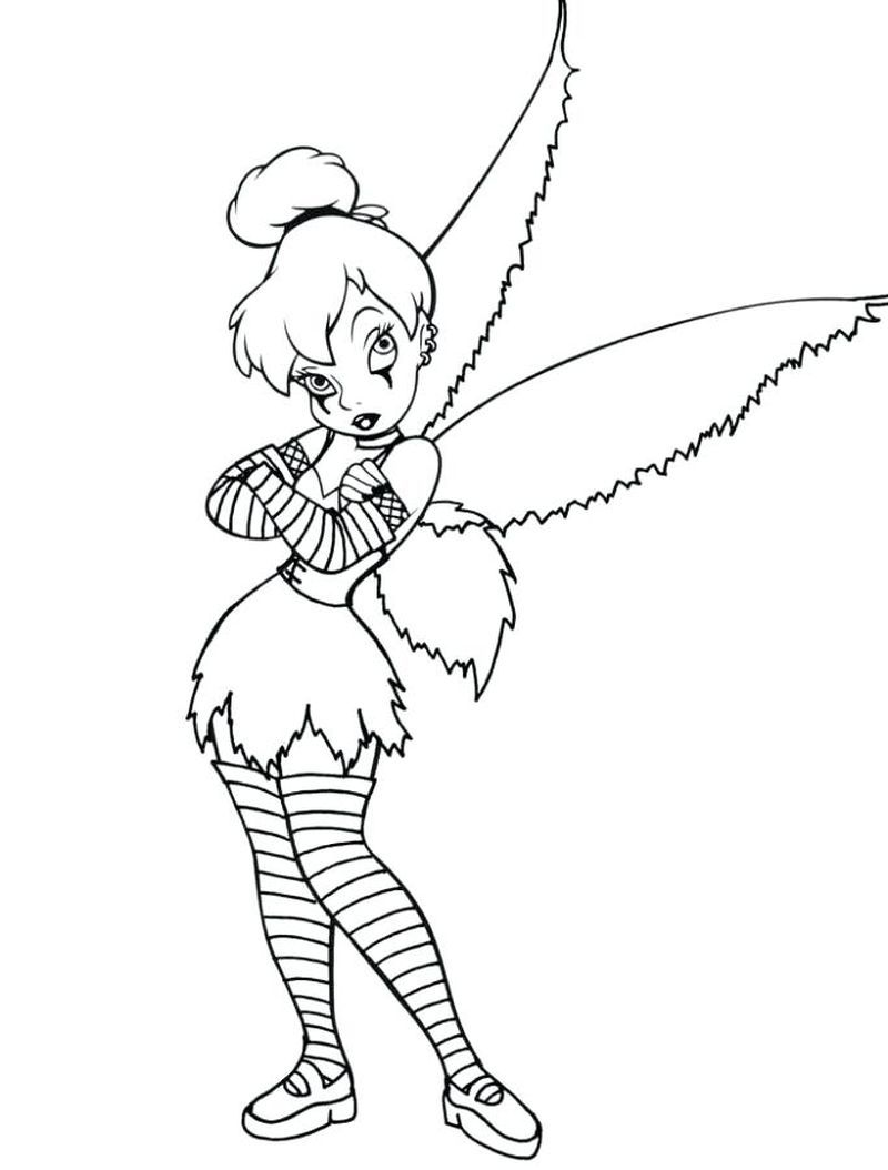 Tinkerbell Coloring Pages For Kids Tinkerbell Coloring Pages Fairy Coloring Pages Halloween Coloring Pages