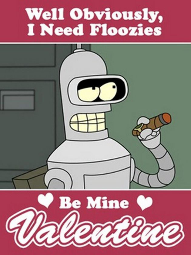 Pin By Jt Hicks On Haha Futurama Futurama Bender Valentine's Day Beauteous Futurama Valentines Day Quote