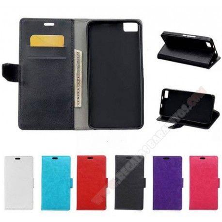 36ec0b30a Funda piel tarjetero diseño cartera para Bq Aquaris M5.5 varios colores