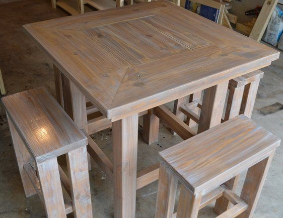 Rustic Pub Table W 4 Barstools Chairs Optional In 2019