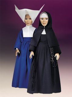 In blue-Daughters of Charity of St. Vincent De Paul. In black-Poor Handmaids of Jesus Christ