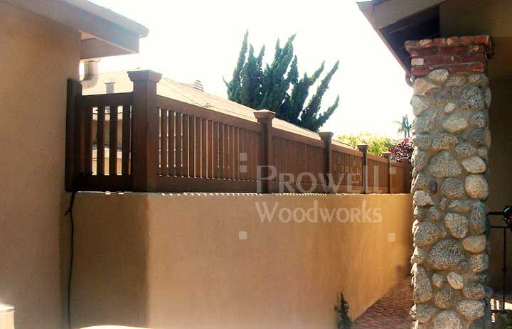 Wood Fence Topper For Concrete Walls Garden Pinterest