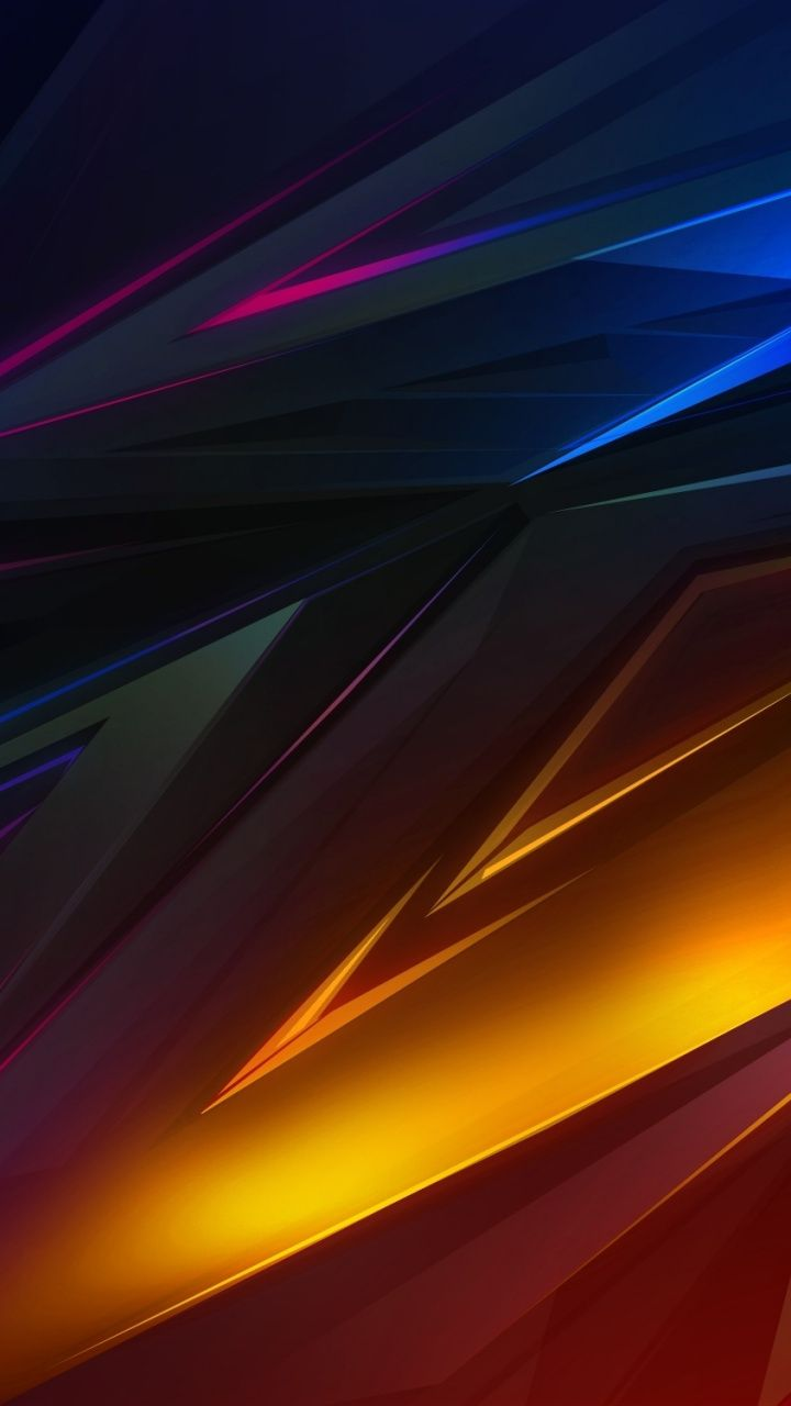 Glowing edge, shapes, abstract, 720x1280 wallpaper ...