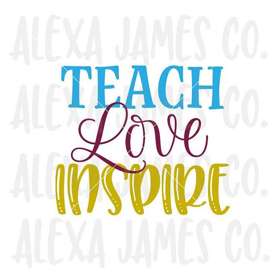 Download Teach Love Inspire Teacher svg It Takes a Big Heart to ...