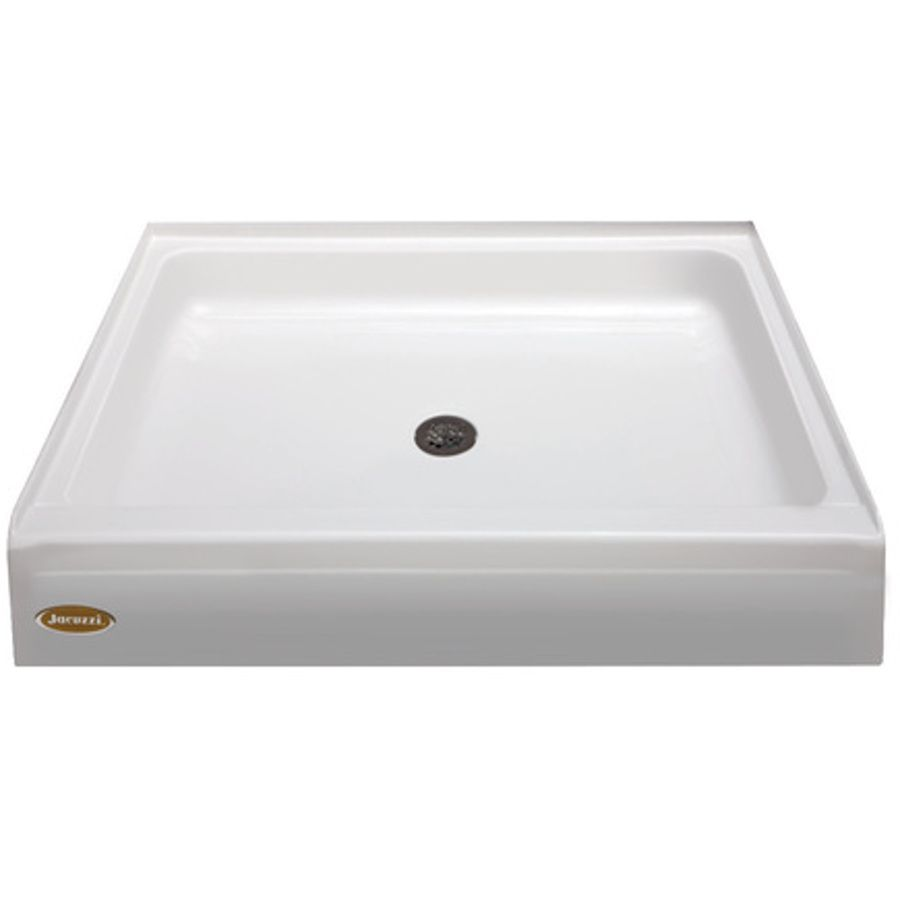Jacuzzi Primo White Acrylic Shower Base (Common: 48-In W X 48-In L ...