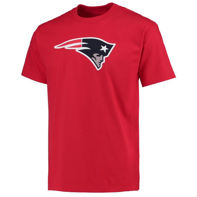 New England Patriots NFL Pro Line Primary Logo T-Shirt - Red ... d183c0199