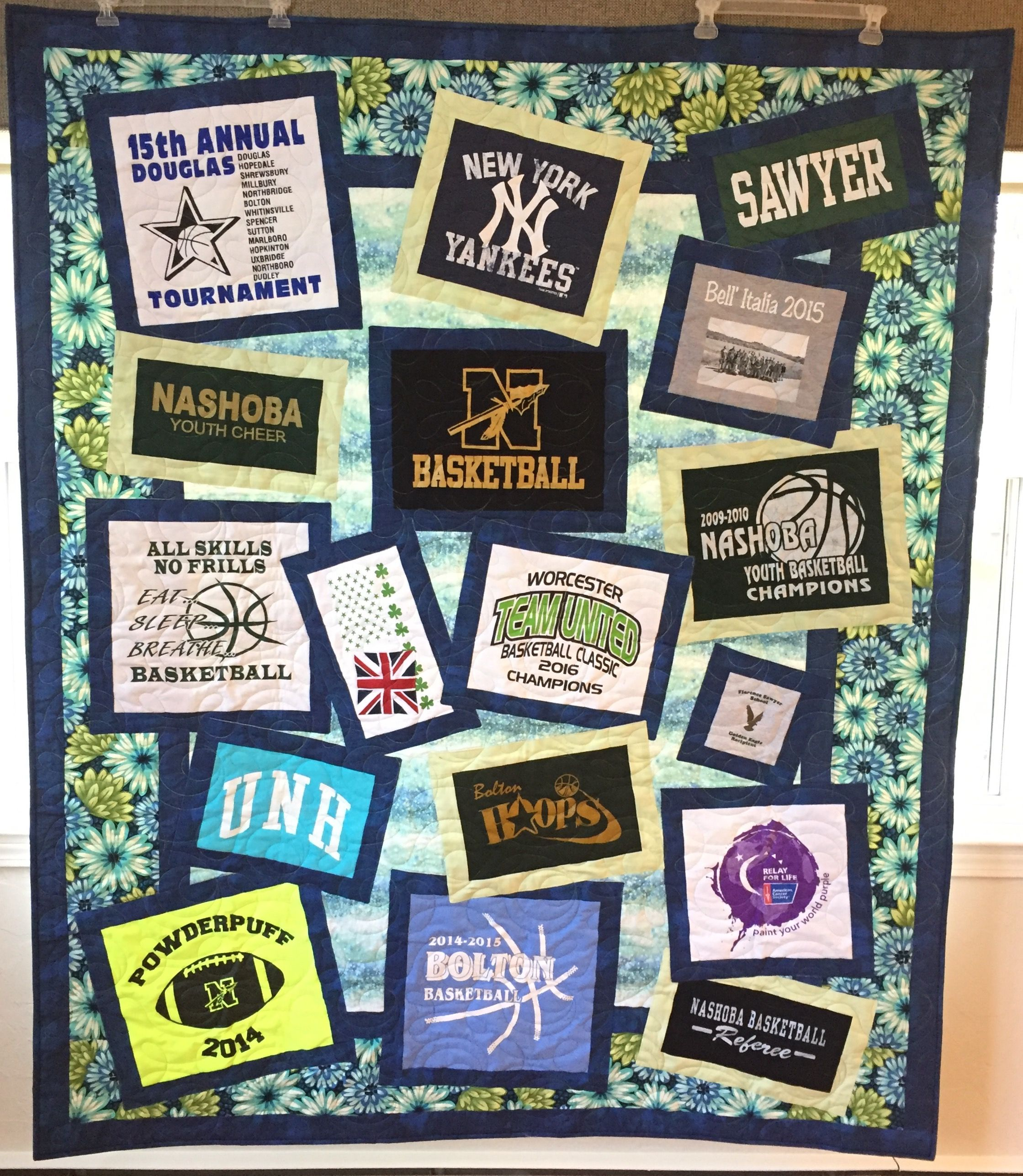 Custom hs graduation tshirt quilt by jlb custom quilts