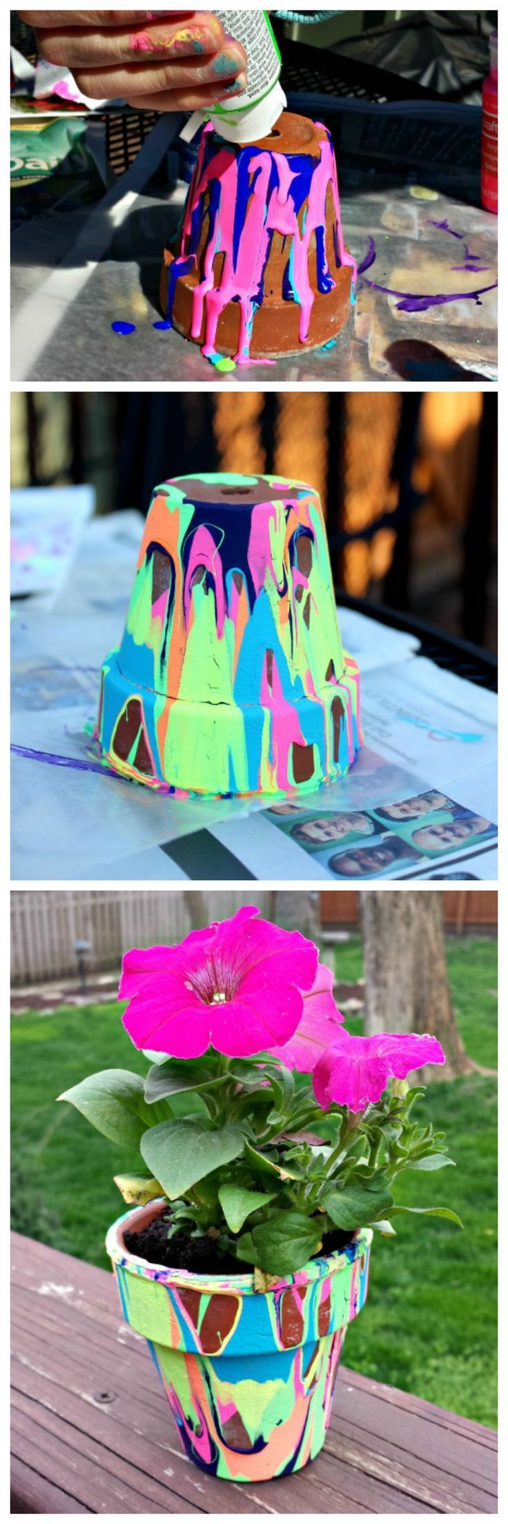 Homemade garden art ideas - Colorful Crafts