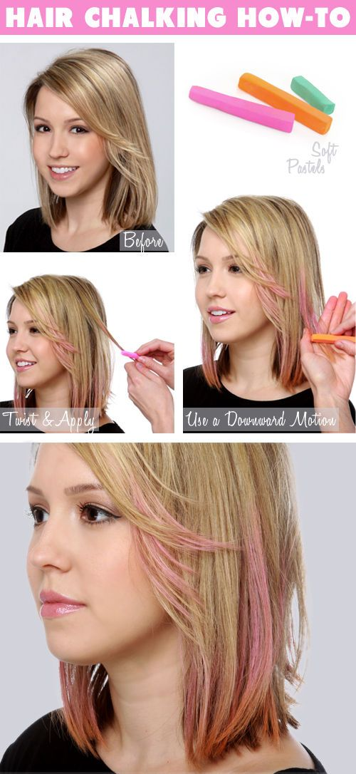 How To Hair Chalking Hair Chalk Temporary Hair Color And Crazy Hair