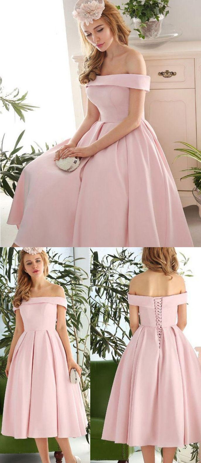 Outlet delightful pink short prom homecoming dress with lace up