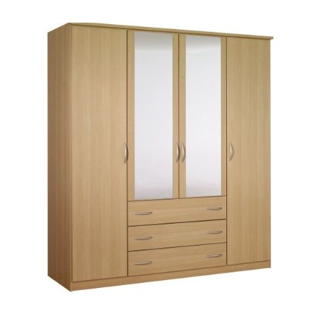 Standing 4 Doors 3 Drawers Wardrobe Hpd440 Free Standing Wardrobes