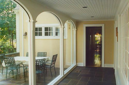 Enclosed Breezeway From Garage To Mudroom Breezeway Backyard Garage Home Additions