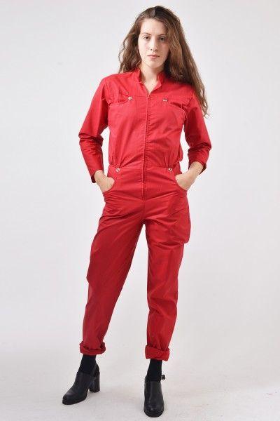 Wonderbaarlijk Jaren 70/80 rode vintage jumpsuit (met afbeeldingen)   Jumpsuit ZJ-37