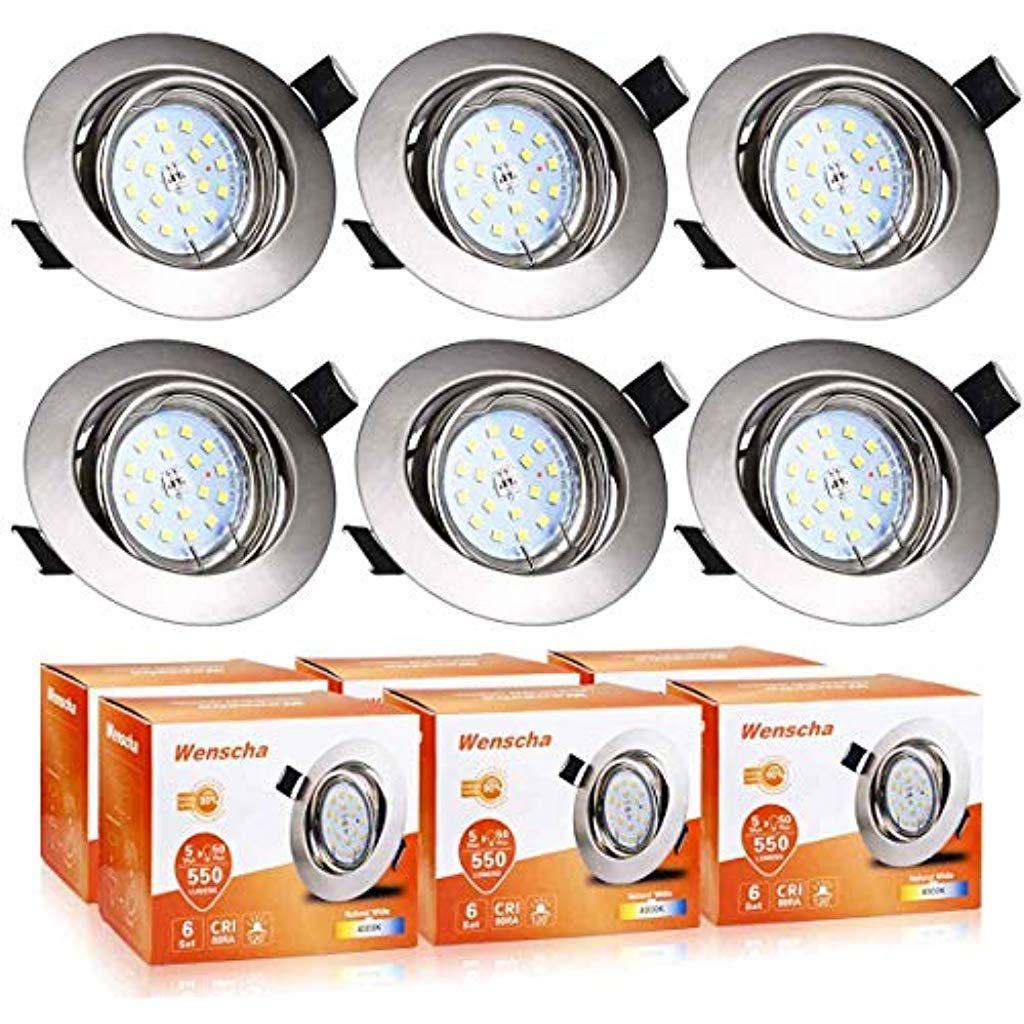 5 x LED GU10 Deckenleuchte Einbaustrahler Einbauleuchten Deckenspots 230V GU10