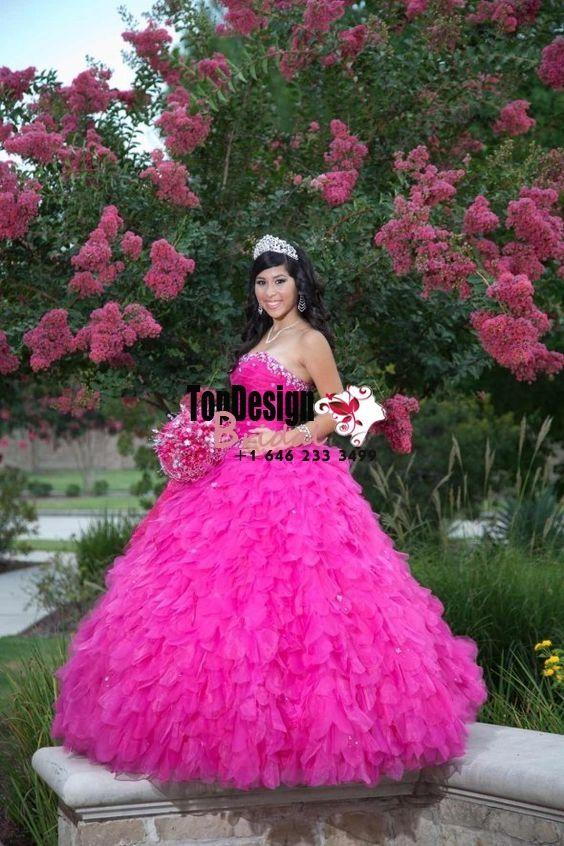 2017 New Beaded Sweet 15 Dress Fuchsia Vestidos De Fiesta Taffeta ...