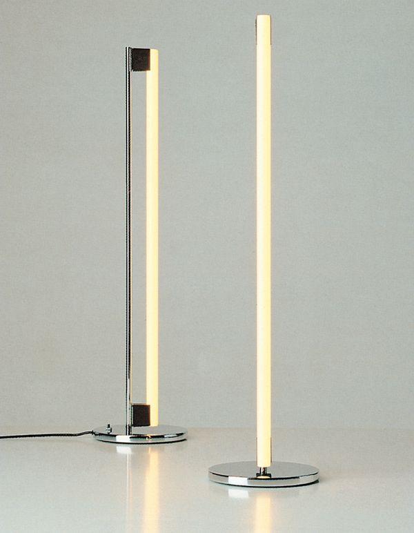 Eileen Gray; Chromed Metal Tube Lamp, 1930s. Lampara