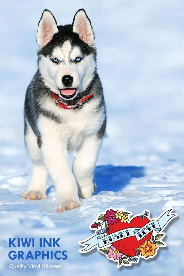 Husky Sticker Vinyl Decal Gift For Dog Lover Husky Decal