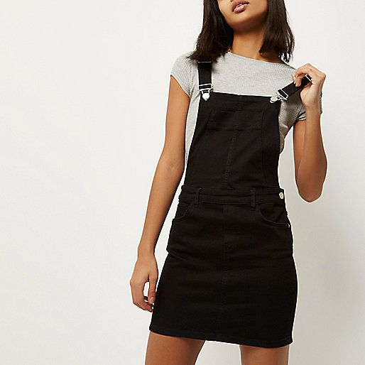 2aab11d96ae Black denim overall dress - overalls - rompers  jumpsuits - women ...