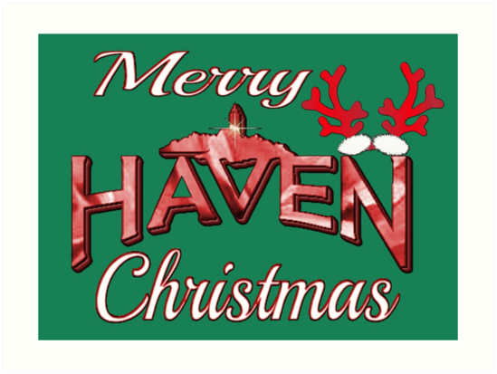 Merry Haven Christmas Logo Art Print Art logo, Art
