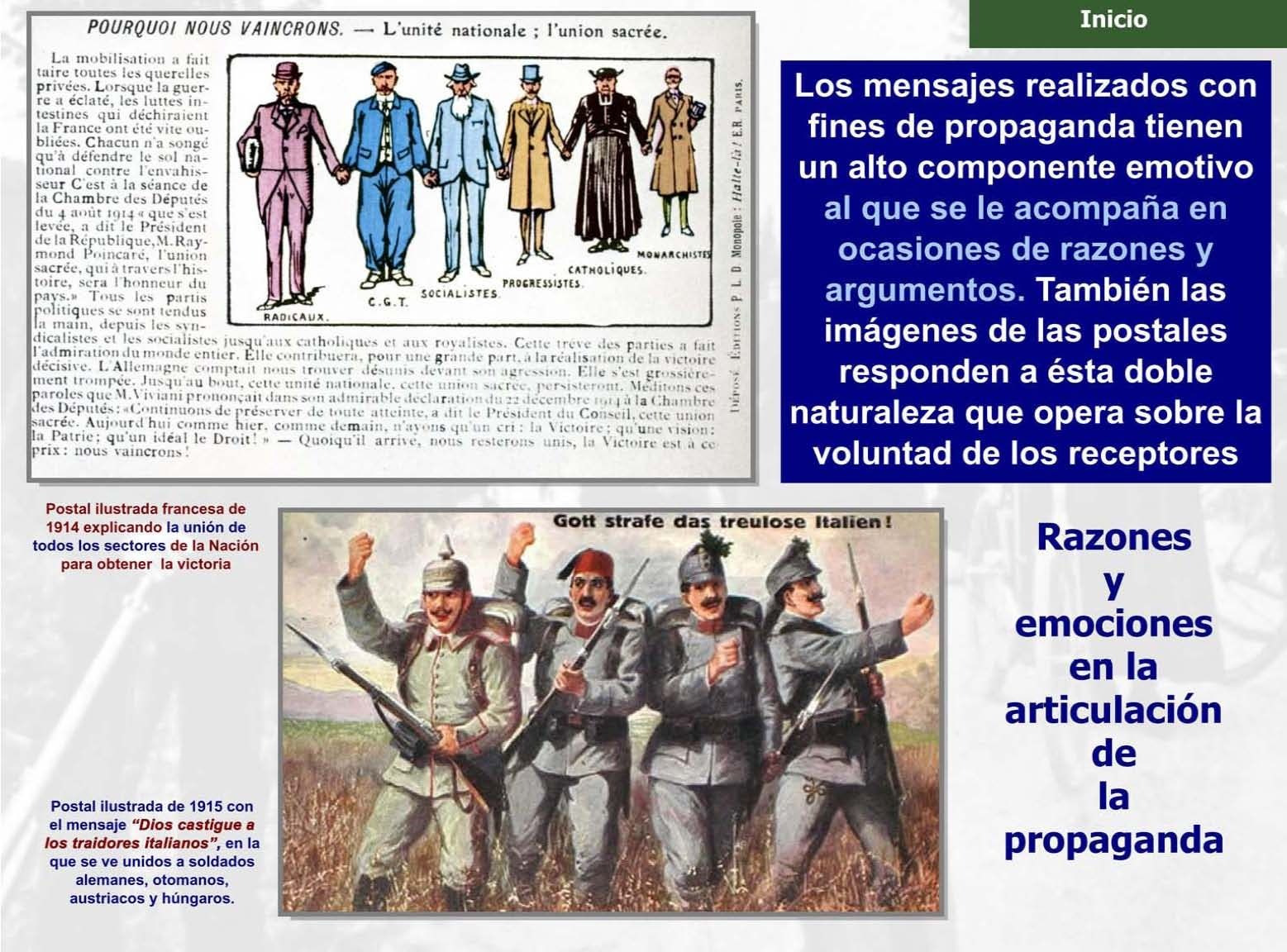 Propaganda política en la tarjeta postal, el cine y la foto privada en la Primera Guerra Mundial (Ficha 15 de 30)