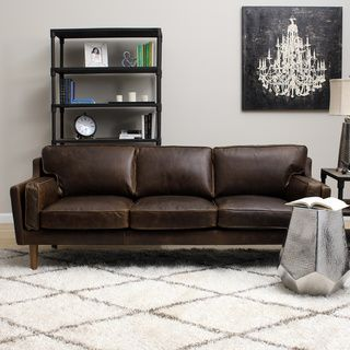Beatnik Leather Sofa Columbus Chocolate Ping Great Deals On Sofas Loveseats