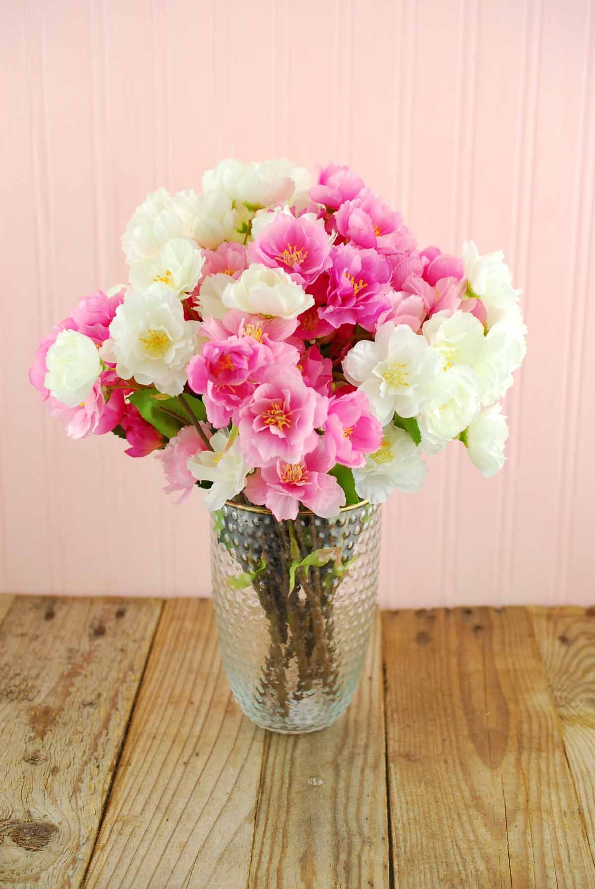 Silk Flowers Sprays Leis Bouquets Cherry Blossoms Pink White