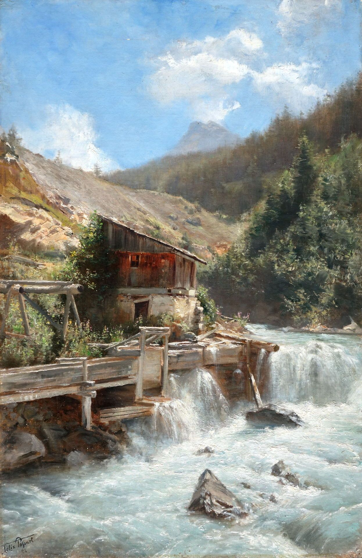 Art and Salt | PAINTINGS-Mountains and streams | Pinterest ...